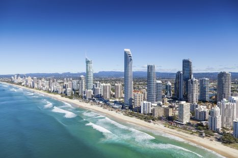 Aerial view of Gold Coast, Queensland, Australia